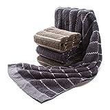 Bed Linling フェイスタオル ホテルスタイルタオル 瞬間吸水 綿100% 厚手 タオル ホテルタオル ビッグ 2色4枚組 セット 120g/枚 (75cmx35cm)