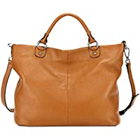 Kattee Women's Soft Genuine Leather Tote Bag, Top Satchel Purses and Handbags