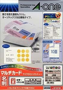エーワン マルチカード 名刺用紙 スマート&エコノミー 1000枚分 51018