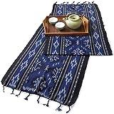 イカット(ロング) J 【インドネシアの飾り布、テーブルランナー タペストリー 壁掛け 箪笥の上掛け】 和風洋風を問わず便利に使えるインテリアクロス