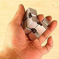 Infinity Cube Toys 無限キューブ 任意の方向と角度から回転でき ストレス消し 悪習に改善して おもちゃ マジック (銀)