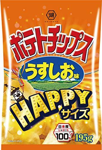 湖池屋 HAPPYサイズポテトチップス うすしお味 1セット(3袋)