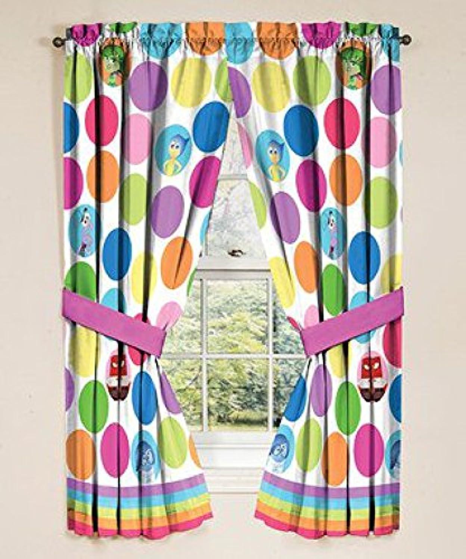 [Jay Franco]Jay Franco Disney Inside Out Window Panels, 42 in x 63 in panel, Made to fit 36in 48 in window [並行輸入品]