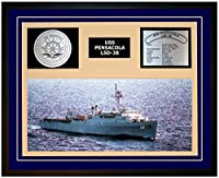 "海軍Emporium USS Pensacola LSD 38Framed Navy Ship表示 20""W x 16""H ブルー 102068000005"