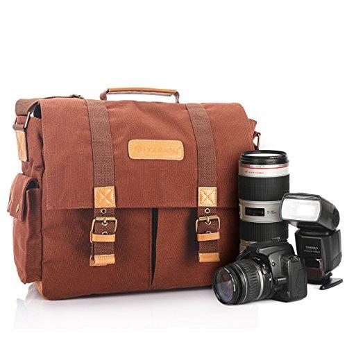 TARION TB-1 一眼レフ ミラーレス カメラバック ショルダーバッグ ハンドバッグ キャンパス地 アウトドア撮影 旅行に最適 Camera Shoulder Bags