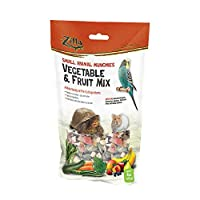 Zilla Reptile Food Munchies Vegetable & Fruit Mix, 4-Ounce by Zilla