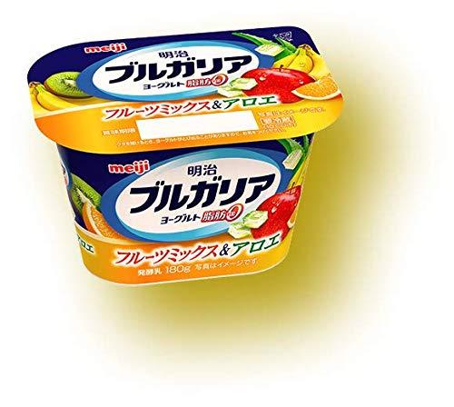 【冷蔵】明治 ブルガリアYG 脂肪0フルーツアロエ 180gX10個