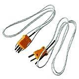 SODIAL(R)2pcsKタイプ800Cの線リード測定熱電対センサー1M3.3Ft