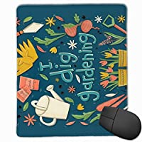 私は園芸茶タオルマウスパッド非スリップラバーバッキングゲームマウスパッドかわいい9.8 x 11.8インチを掘る