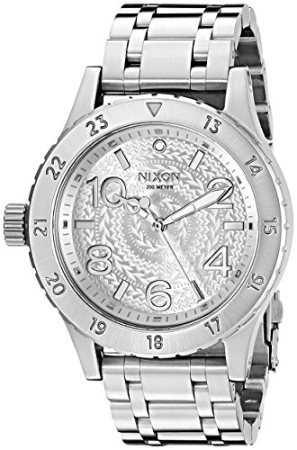 [해외]Nixon Women `s a4102129 38 - 20 아날로그 디스플레이 일본 쿼츠 실버 시계/Nixon Women `s a 4102129 38 - 20 Analog Display Japan Quartz Silver Watch