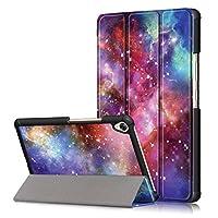 Asng HUAWEI MediaPad M6 8.4 ケース Huawei MediaPad M6 8.4イン-チ カバー 三つ折スタンドカバー マグネット開閉式オートースリップケース 極薄型 傷つけ防止ケース (Galaxy)