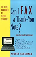 Can I Fax a Thank-you Note?