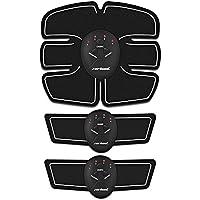 フィットネスマシン EMS 腹筋ベルト EMS 腹筋トレーニング ダイエット器具 Zerhunt 腹筋トレ お腹 腕 腹筋器具 男女兼用 10段階調節 6モード 腹筋ベルトの筋力訓練道具 3点セット ブラック