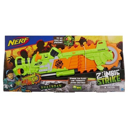 [해외]Nerf Zombie Brainsaw 너 프 좀비 브레인 こぎり [병행 수입품]/Nerf Zombie Brainsaw Nahu Zombie Brain Knaps [Parallel import goods]