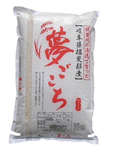 岐阜県産 夢ごこち 特別栽培(農薬・化学肥料5割減) 玄米 5kg 令和1年産