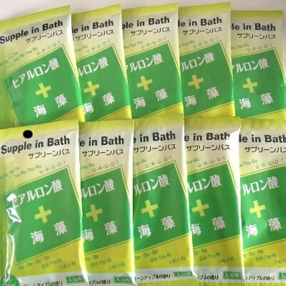 ワックス楽しいギャップサプリーンバス ヒアルロン酸+海藻 10包セット