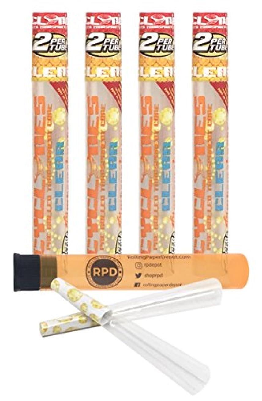 コンパニオンイブまもなく4 Packs Cyclones Pimperschnaps Flavored Pre Rolled Cones Clear with RPD Doob Tube by Cyclones