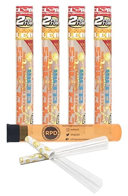 ホテル広がり性差別4 Packs Cyclones Pimperschnaps Flavored Pre Rolled Cones Clear with RPD Doob Tube by Cyclones