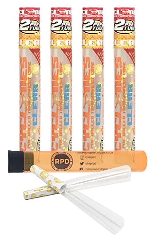 人差し指憂鬱ライブ4 Packs Cyclones Pimperschnaps Flavored Pre Rolled Cones Clear with RPD Doob Tube by Cyclones