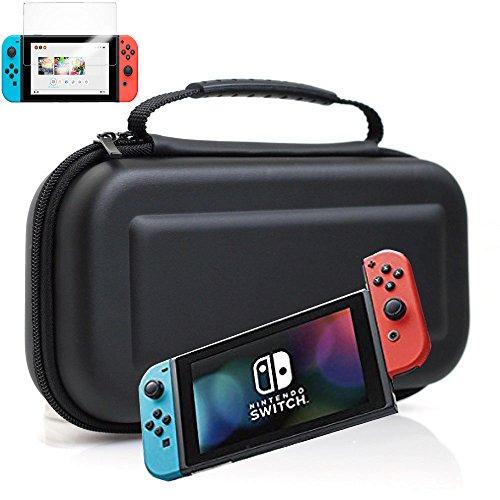 Nintendo Switch ケース 収納 カバー ニンテンドー スイッチ 対応 EVA ケース Barsado(EVAケース+9H保護ガラスフィルム)