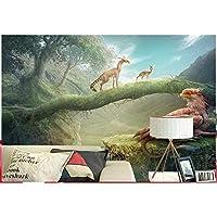 写真3D壁紙不織布壁画、壁ステッカーファンタジー動物の世界クリエイター風景壁画、3D壁紙欧州280 cm(W)x 180 cm(H)
