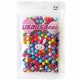 usausaのお店 カラフル丸いアクリルビーズ (約8mm) 200個セット(ツヤがなく、マットな質感のビーズです)(B379)