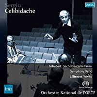 シューベルト : 6つのドイツ舞曲, 交響曲 第5番   ヨハン・シュトラウス II世 : 皇帝円舞曲 他 (Schubert : Sechs Deutsche Tanze, Symphony No.5   J. Strauss : Works / Sergiu Celibidache   Orchestre National de l'ORTF) [SACDシングルレイヤー]
