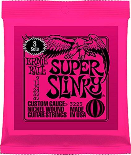 【国内正規輸入品】ERNIE BALL アーニーボール エレキギター弦 3223 SUPER SLINKY 3SET PACK スーパー・スリンキー 3セットパック