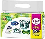 Silcot 濕紙巾 除菌 無酒精型 替換裝 360片(45片×8)