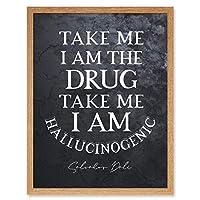 Slate Quote Dali Drug Hallucinogenic Artwork Framed Wall Art Print 9X7 Inch 見積もり 壁