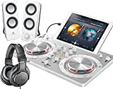 PIONEER DJスタートセット DDJ-WEGO3-W + Z200 + ATH-M20X(DJコントローラー + スピーカー + ヘッドホン) (ホワイト)