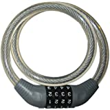J&C(ジェイアンドシー) ダイヤルワイヤーロック [JC-001W] φ12×650mm グレー