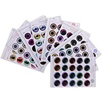 Fenteer 紙製 ドール 目  チップ  パターン  UV接着剤なし 12インチブライス人形対応 作成用 修理用  全2種類選ぶ - 02