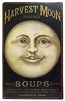 CWI Gifts Harvest Moon Brand Soups ビンテージスタイル ブリキ製看板 16インチ x 10インチ