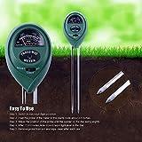 Kuyi 土壌測定器 土壌酸度計 土壌水分計 デジタル 照度計 水分/ PH値/日射量センサーメーター 電池不要 モニターゲージ ガーデニング 農業 屋内/屋外植栽に最適 KP01