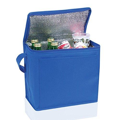 Large Insulated再利用可能なピクニック/ランチクーラーバッグ ブルー