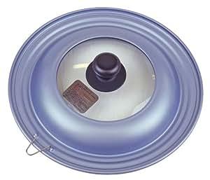 AKAO NEWルッククック フライパンカバー 【アルミ板厚 1.0mm】 兼用サイズ24・26・28cm ライラックブルー Lサイズ 0016903