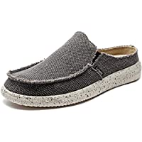 CASMAG Men's Casual Slip On Shoes Flip Flops Clog Canvas Mule Loafers Slipper Slide Sandal Walking Shoes
