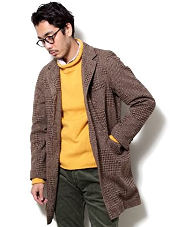 Patchwork Chesterfield Coat 38-19-0042-803: Brown