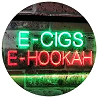 E-Cigs E-Hookah Indoor Shop Display Dual LED看板 ネオンプレート サイン 標識 Green & Red 300 x 210 mm st6s32-i3107-gr