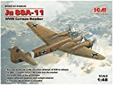 ICM 1/48 ドイツ空軍 ユンカース Ju88A-11 爆撃機 プラモデル 48235