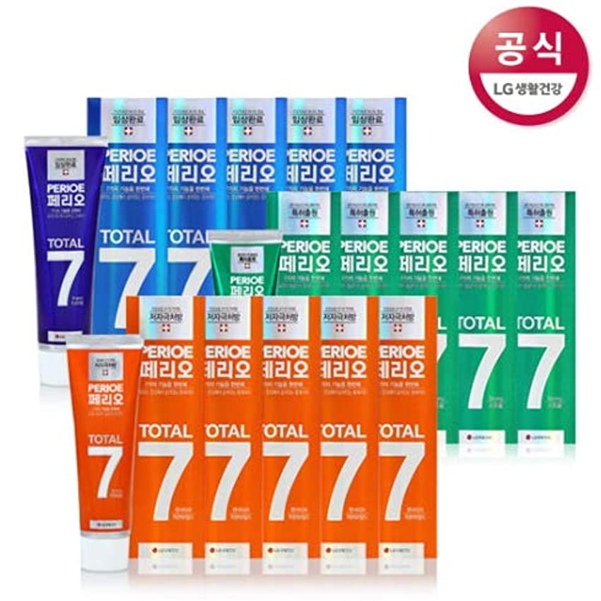 スポット寄付分析的[LG HnB] Perio Total 7 toothpaste /ペリオトータル7歯磨き粉 120gx18個(海外直送品)
