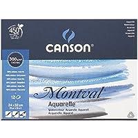 キャンソン モンバル 水彩紙 パッド 240×320mm 中目 300g/m2 807-319