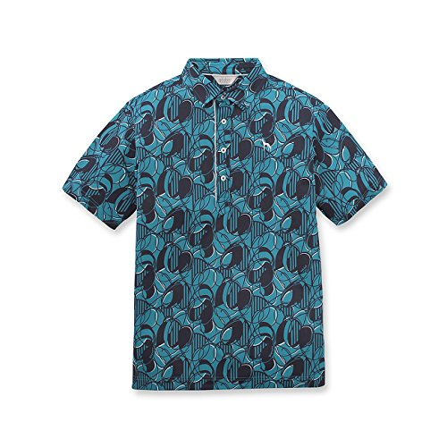 (アダバット) adabat アルテメーラプリント半袖ポロシャツ 08219831 46(M) ブルー系(991)