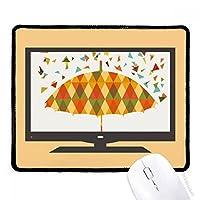 雨の傘のしずく模様の天気 マウスパッド・ノンスリップゴムパッドのゲーム事務所