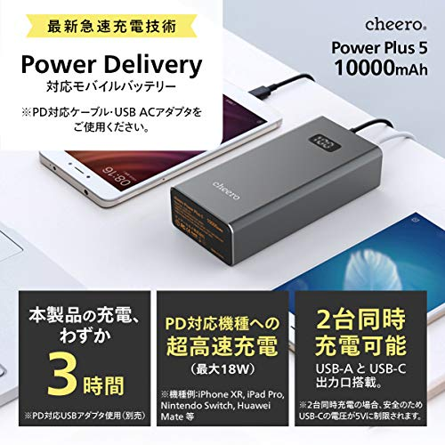cheero(チーロ)『PowerPlus510000mAhwithPowerDelivery18W』