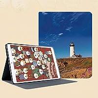 印刷者iPad Mini ケース クリア iPad Mini2 ケース レザー PU iPad Mini3 ケース 軽量 スタンド機能 傷つけ防止 オートスリープ ハード二つ折 カブリヨハイウェイ沿岸ハイウェイ国道1号線のカリフォルニアピジョンポイント灯台