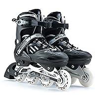 Vampsky ユニセックスプロフェッショナル子供用スケート靴シングルラインローラースケートシューズ調節可能なメンズレディースアイススケートユニバーサルインラインスケートシューズ (サイズ : S)