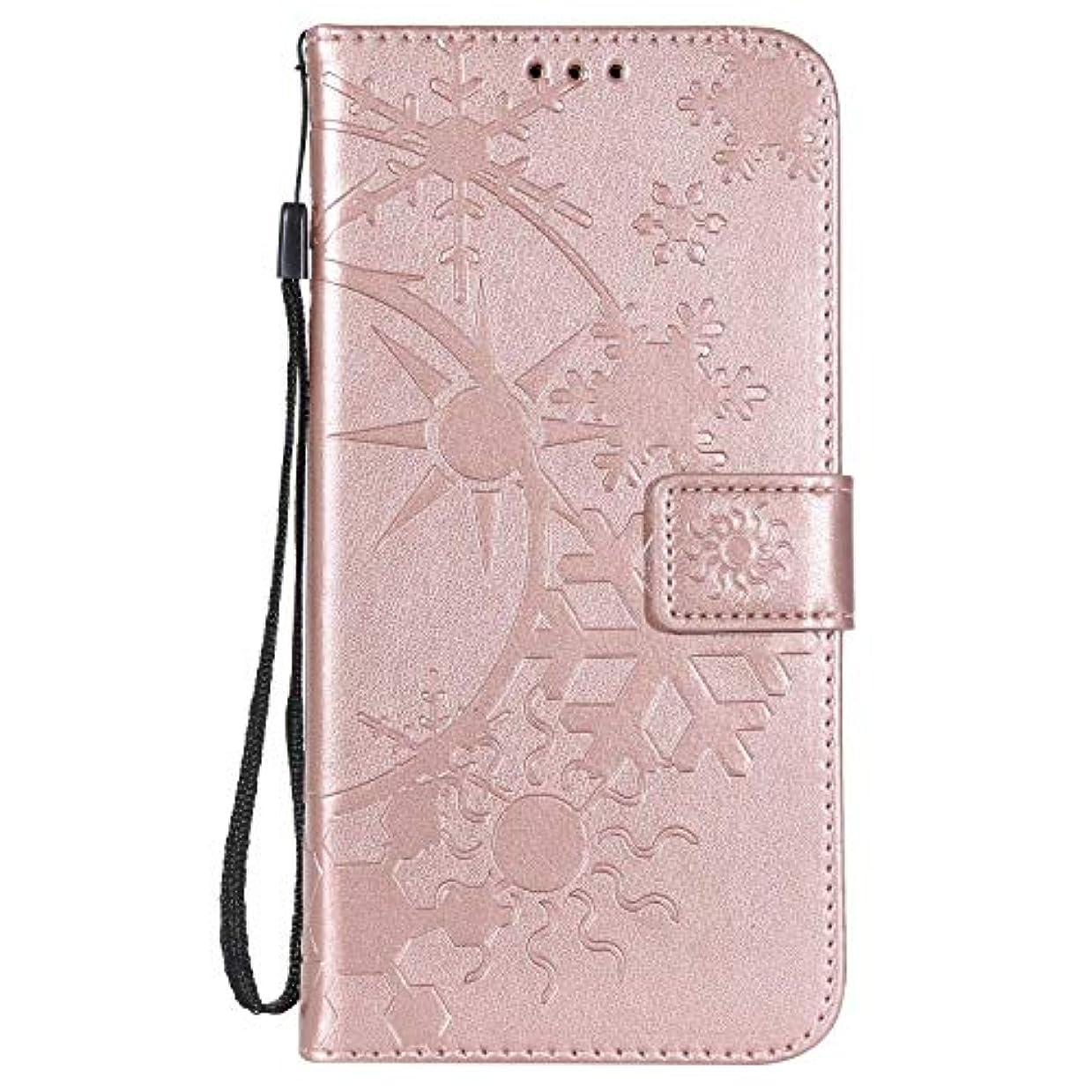 割る受け入れる記憶に残るXiaomi Redmi 5 Plus ケース手帳型 OMATENTI レザー 革 薄型 財布型カバー カード入れ スタンド機能, 全面保護 おしゃれ 手帳ケース, 液晶保護 Xiaomi Redmi 5 Plus対応, ローズゴールド