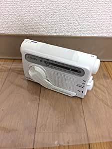 SONY 防災用 手回し充電 FM/AMポータブルラジオ ホワイト ICF-B02(W)